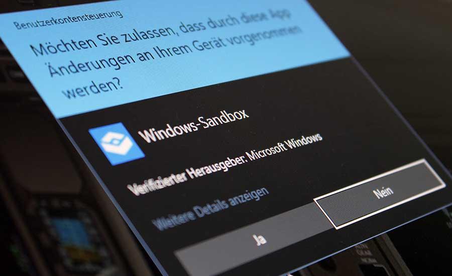So können Sie  die Sandbox in Windows 10 aktivieren
